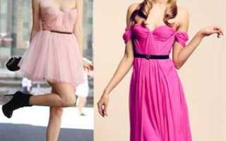 Стильные образы с розовым платьем. Короткое розовое платье: такое разное и нарядное