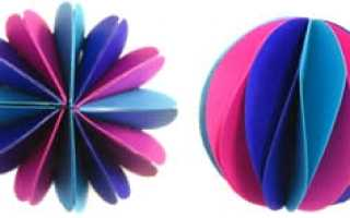 Как сделать новогодний шар из картона. Шары из бумаги. Изготовление шаров из ниток