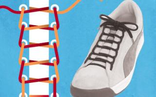 Креативное завязывание шнурков. Как красиво завязать шнурки: полезные схемы на все случаи жизни
