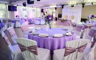 Свадьба в сиреневом цвете — оформление зала и стола. Лиловая свадьба: самый загадочный оттенок