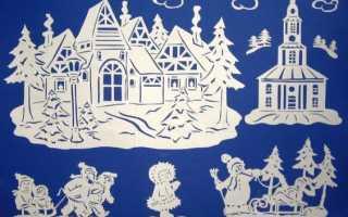 Узоры на окнах к новому. Новогодние вытынанки: украшаем дом силуэтной вырезкой из бумаги