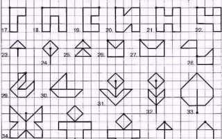 Графические рисунки по. Увлекательная деятельность для дошкольников — графические диктанты