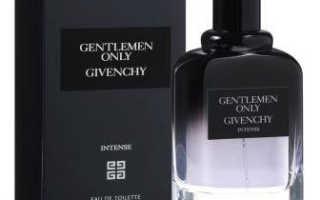 Парфюмерная вода для мужчин. Gentlemen Only Intense от Givench. Парфюм для работы