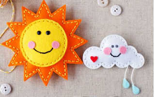 Шьем солнышко из фетра. Мягкая игрушка солнышко из фетра Солнышко цветы я из фетра и диска