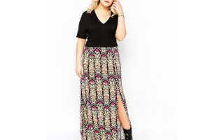 Фасон юбок для полных девушек. Длинные юбки для полных женщин – модно и удобно