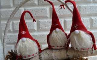 Гномы из ткани на новый год. Новогодние игрушки своими руками. Рождественские Ангелы из шерсти