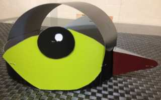 Маска щуки для детей на голову распечатать. Универсальная маска птицы (например, воробья)
