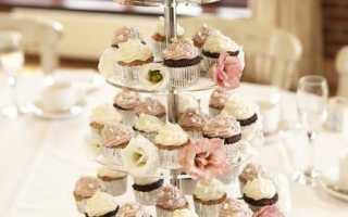 Свадебные кексы своими руками. Свадебный десерт: торт или маффины. Свадебные капкейки без мастики