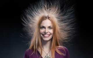Что делать, чтобы волосы не электризовались. Волосы электризуются – что делать