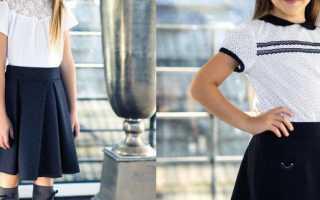 Модная юбка с большими цветами для девочки. Юбки для девочек. Цвет и декор юбки для девочек