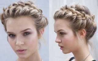 Как сделать красивую причёску быстро и легко. Коса вокруг головы. Плетение на длинных волосах