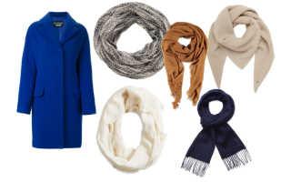 Какой шарф подойдет к синему пальто (40 фото). Как правильно и красиво носить женские шарфы