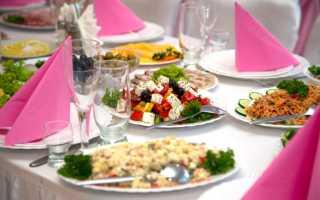 Составляем свадебное меню. Свадьба дома: примерное меню для праздничного стола