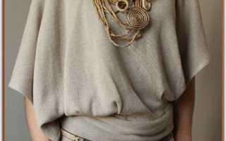 Легкая кофточка своими руками. Выкройка блузки для начинающих портних. Простейшие выкройки блузок