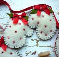 Новогодняя варежка. Как сделать Новогоднюю рукавичку? Новогодний леденец из фетра