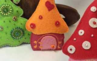 Новогодние игрушки из фетра своими. Новогодние игрушки на елку из фетра. Настаканники из фетра