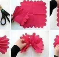 Большой цветок из салфеток. Бумажное искусство: учимся творить цветы из салфеток