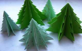 Как сделать новогоднюю елку своими. Елочка из бусин. Видео: Объемная елка из бумаги своими руками