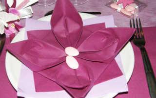 Как свернуть салфетки на стол. Как красиво сложить бумажные салфетки на праздничный стол