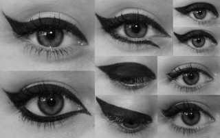 Как правильно красить глаза используя подводку. Секреты красивой подводки глаз и стрелок