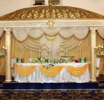 Как задрапировать стол молодоженов. Украшение свадебного стола жениха и невесты