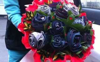 Букет из трусов мужчине. Цветок из носков: как сделать практичный подарок для близких