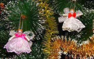 Как сделать ангела? Мастер-классы. Рождественский ангел из ленты Как сделать ангелочка из ленты