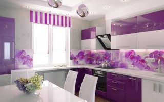 Фиолетовая кухня какие обои подобрать. Фиолетовая кухня — это красиво и современно