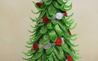 Новогодний декор из фоамирана. Поделки из фоамирана на новый год. Елка из фоамирана