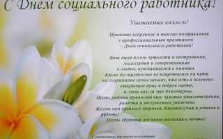 Поздравление с днем рождения социальному работнику. Поздравления с днем социального работника