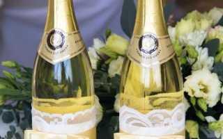 Как украсить бутылку шампанского на новый год. Как оригинально украсить новогоднее шампанское