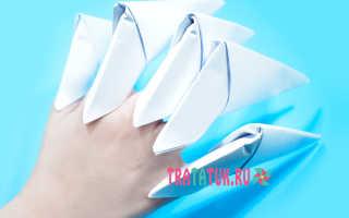 Делаем бумажный коготь. Как сделать когти из бумаги и других подручных материалов