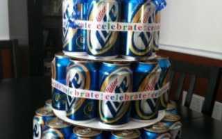 Подарок из банок пива своими. Торт из пива в банках своими руками: как сделать самим