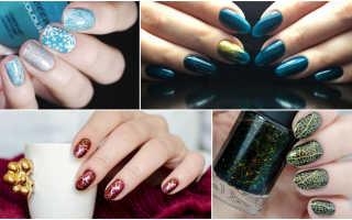 Дизайн ногтей в новогоднем стиле. Праздник к нам приходит: новогодний маникюр на короткие ногти