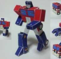 Бумажный трансформер. Звезда-трансформер из бумаги. Куб-трансформер из оригами