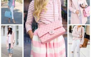 Сочетание нежно розового цвета в одежде. С чем сочетается розовый цвет в одежде