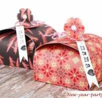 Новогодняя коробочка своими руками из картона. Новогодняя упаковка своими руками