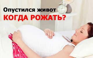 За какое время до родов происходит опущение живота. Когда и за сколько опускается живот до родов