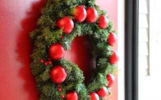 Новогодний венок. Делаем своими руками. Как сделать рождественский венок: мастер-класс (31 фото)
