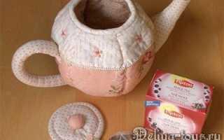 Грелки для чайников из ткани. Красивая мягкая ваза, мяч, чашка и чайник из ткани