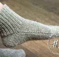 Детские носки на двух спицах без единого шва. Очень ленивые носки на двух спицах