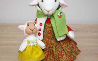 Овечка своими руками выкройки и схемы. Как сшить овечку из ткани. Как сшить овечку: мастер-класс