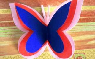Контур бабочки для аппликации. Аппликация из бумаги — бабочка. Мотыльки из сердечек