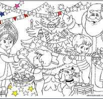 Плакат раскраска на новый год распечатать. Как оформить новогоднюю стенгазету