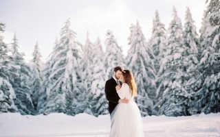 Необычная зимняя свадьба. Свадебная фотосессия зимой: идеи, примеры, реквизит