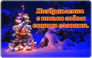 Поздравление друзьям с наступающим годом. Поздравления с наступающим новым годом своими словами