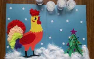 Красивые открытки с годом петуха. Как сделать интересные новогодние открытки своими руками