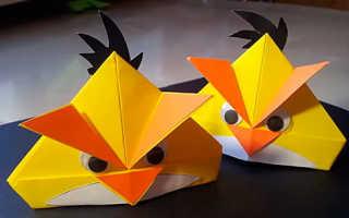 Как сделать энгри из бумаги. Поделки для детей из бумаги — Angry Birds. Итак, нам понадобятся