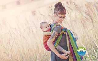 Слинг-шарф: выбор, намотки, сделай сам. Слинг шарф инструкция для новорожденных