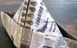 Пилотка из бумаги пошаговая инструкция. Как сделать пилотку из газеты легко и быстро